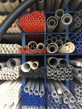 PVC, GI & stainless steel pipes